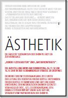 """Einladung zur Vernissage """"Ästhetik"""", Schramberger Str. 28, 6. November 2014"""